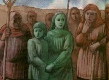 crinaças verde